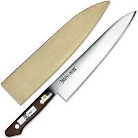 Japanese Tsukiji Masamoto 8.25 Blade Tsubatsuki Gyuto Knife W/ Wooden Cover