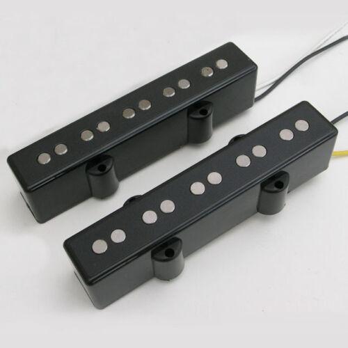 5 string Neck /& bridge Black J-Style bass pickups 8.45k P38