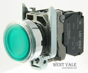 Schneider XB4 22mm LED iluminado con mando por botonera 24V Azul XB4BW36B5