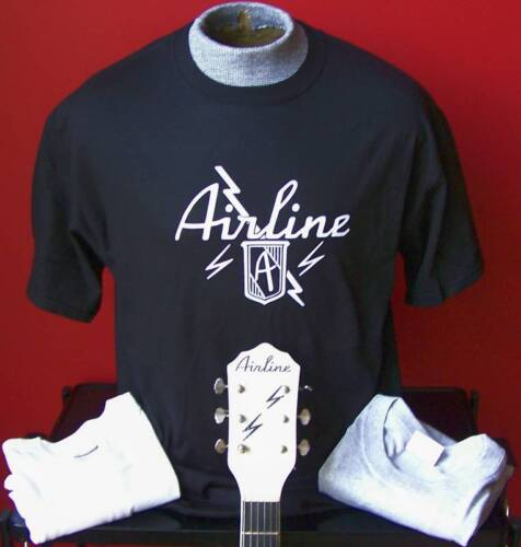 **NEW VINTAGE** AIRLINE GUITAR T-SHIRT SIZES XXL