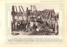 1915 puente de Varsovia Reparación Vistula Berlín celebra