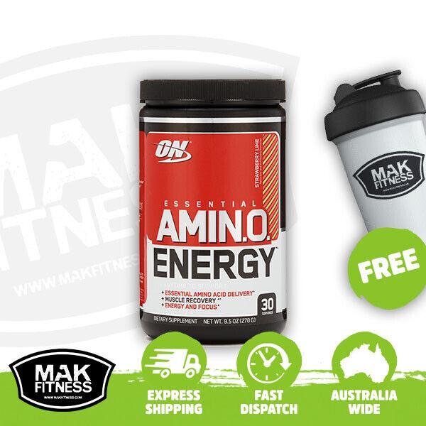Optimum Nutrition Amino Energy 30 Serves Strawberry Lime |FREE Shaker & Shipping