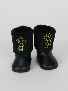 """shoes made for 18/"""" American Girl Doll Clothes Anna Frozen Fur Embroidered Boot"""