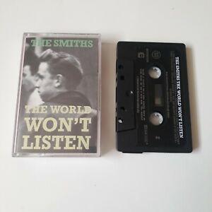 THE SMITHS WORLD WON'T LISTEN CASSETTE TAPE 1986 PAPER LABEL ROUGH TRADE UK