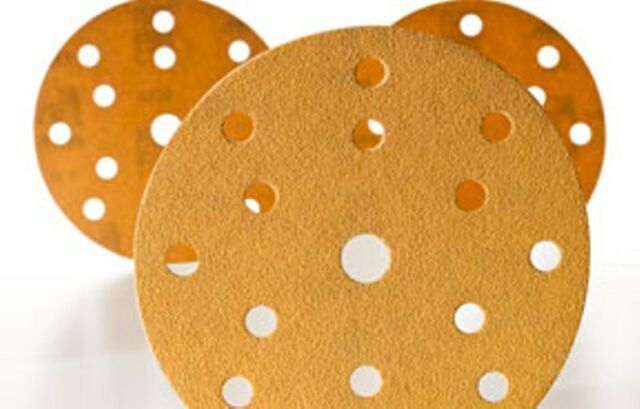 50-Pack Mirka 23-650-400 Gold 5-in 19-Hole 400 Grit Grip Discs