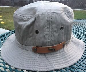 Scala Bucket Water Resistant Rain Hat Packable M Beige Tan Medium 56 ... 4d5893847f8