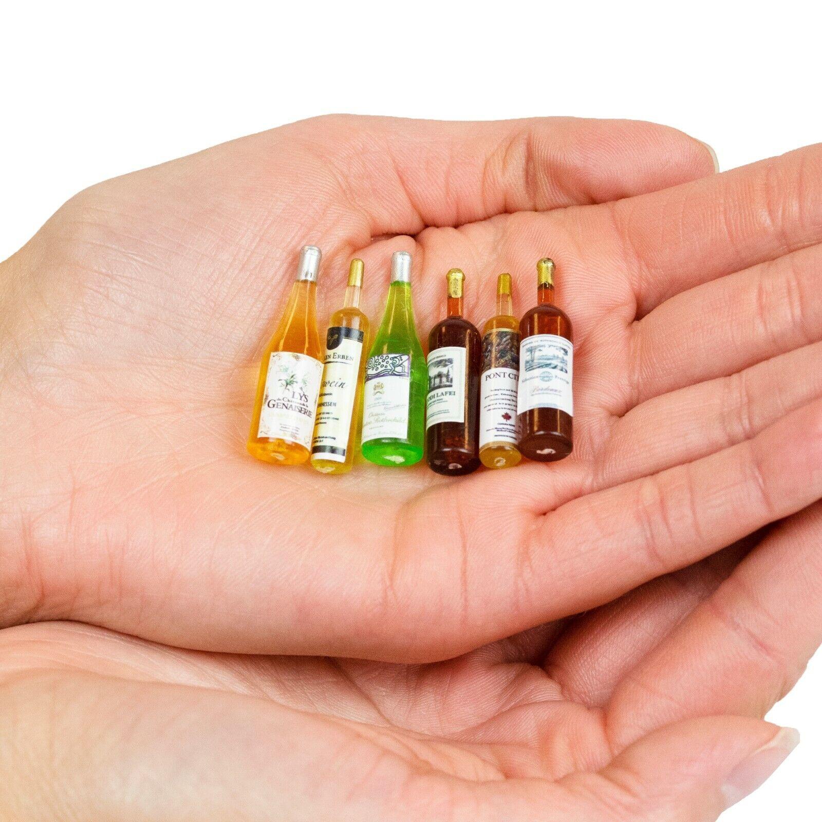 1//12th scale dolls house miniature Accessory Handmade Nail Polish Bottles