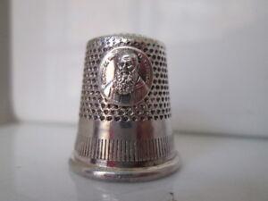 Dedal-costura-Metal-plateado-Espana-San-Leopoldo-Siervo-de-Dios
