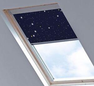 Stars navy blackout skylight blinds sizes for velux for Tende oscuranti per velux non originali