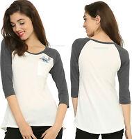 Lilo & Stitch stitch Disney Athletic T-shirt For Juniors Free Shipping