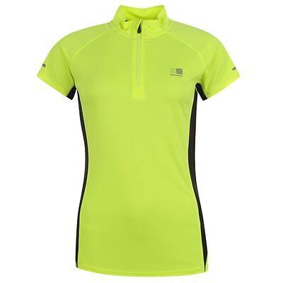 Karrimor Zip Collar Short Sleeve Ladies Fluro Running Top Sizes 8-18 Free Post Elegantes Und Robustes Paket