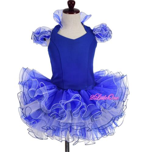 Cupcake National Pageant Dress DIY Shell Party Flower Girl Blue Sz 12M-10 PT005