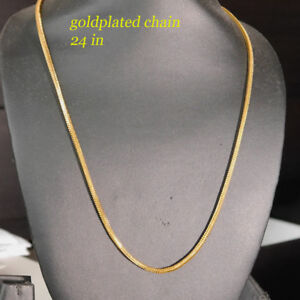 22k Fashion Jewellery 22k Gold Plated Necklace for Men or Women Chain 23 in  x15 - Ilford, Essex, United Kingdom - 22k Fashion Jewellery 22k Gold Plated Necklace for Men or Women Chain 23 in  x15 - Ilford, Essex, United Kingdom
