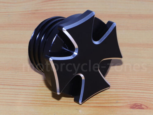 Black Cross Fuel Gas Tank Oil Cap Cover For Harley Dyna Softail Road King Fatboy