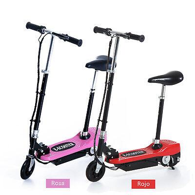 Juego de 2 Patinete Eléctrico Plegable E-Scooter 120W Manillar Asiento Ajustable