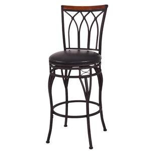 "Vintage Swivel Bar Stool 24"" 28"" Height Adjustable Padded Seat Bistro Pub Chair"