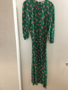 lk-bennett-Uk10-Dr-Dorothy-GREEN-Silk-MIDI-DRESS