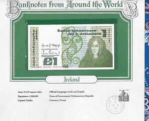World Banknotes Ireland 10-07-1984 1 pound UNC P 70c UNC Low DKI 004606