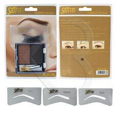 Saffron Eyebrow Kit with Stencils - Shade 02 Shapers Brow Make Up Powder & Brush