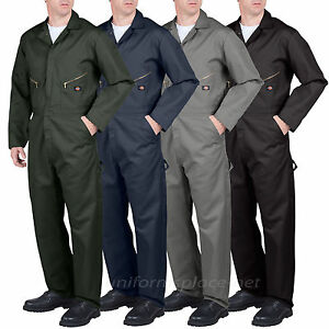 Dickies-COVERALLS-Men-Long-Sleeve-Mechanic-Coverall-4879-49799-Black-Gray-Blue