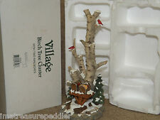 """Dept 56 Village """"Birch Tree Cluster with two mailboxes"""" #52631"""