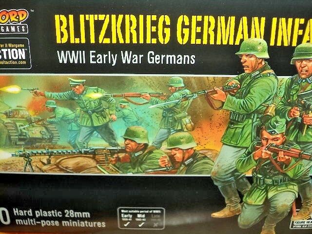 Blitzkrieg Infantry German Army Bolt Action 2nd WWII Warlord Games 1 56 Model