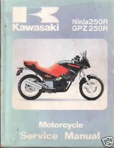 genuine kawasaki ex250 ninja 250r service manual ebay rh ebay com kawasaki ninja 250r service manual 2012 ninja 250r service manual