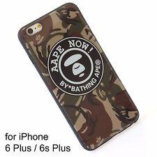 A Bathing Ape Bape Aape Brown Camo Cover Silicone Case iPhone 6 Plus  6s Plus