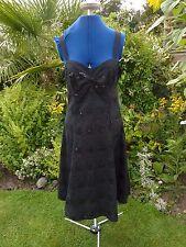 ROCHA JOHN ROCHA SIZE 12 LITTLE BLACK DRESS WITH SEQUINS/EMBROIDERY BNWT
