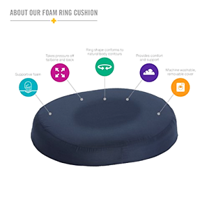 Dmi 16 Quot Molded Foam Ring Donut Seat Cushion Pillow Support