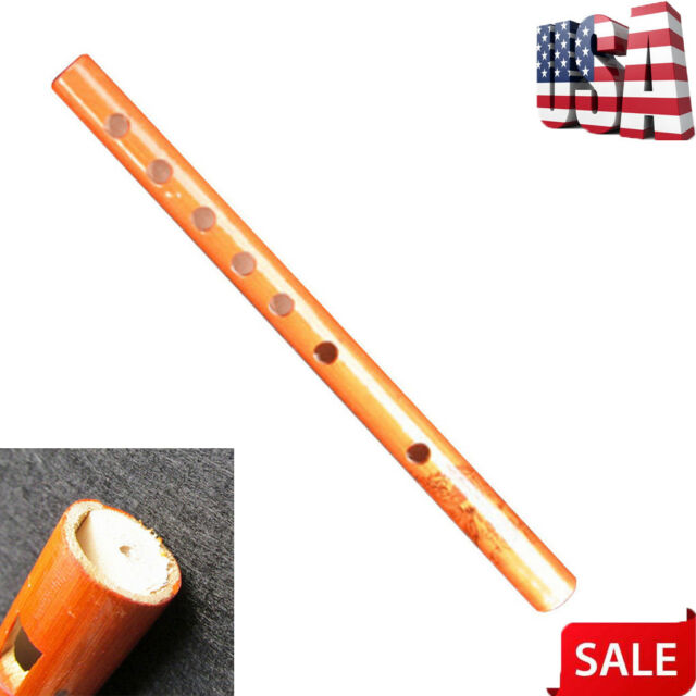 Long Bamboo Flute Clarinet Student Musical Instrument 7 Holes 24cm for Lover