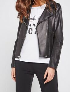 e23a9f6670d4 Image is loading New-with-defect-BCBGeneration-Leather-Moto-Jacket-B2157-