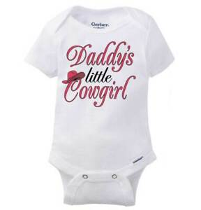 Daddys Little Cowgirl Gerber OnesieSouth West Country Rodeo Baby Romper