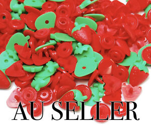 STRAWBERRY-T5-KAM-Plastic-Resin-Press-Studs-Snap-Fasteners-Poppers-button-AU