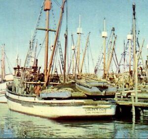 Golden-Gate-velero-en-Fisherman-039-s-Wharf-San-Francisco-CA-POSTAL-ANTIGUA