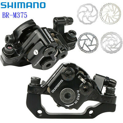 Shimano BR-M375 Mechanical Disc Brake Front/&Rear Calipers w// 160mm Rotors