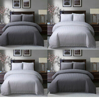 Luxury Satin Stripe Bedding Fitted Sheets Or Pillowcases Single Double King