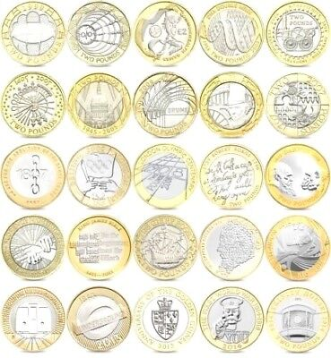 Rare Uk Coin Hunt 2 Two Pound Coins