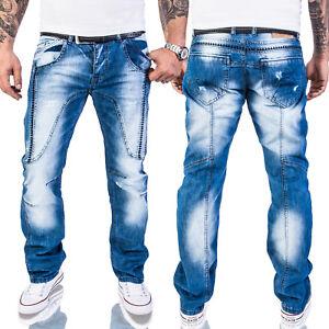 Rock-Creek-Herren-Jeans-Destroyed-Denim-Vintage-Hose-Stone-Wash-RC-2011