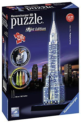 Ravensburger 125951 - Chrysler Building edition night, puzzle 3D. 216 pieces