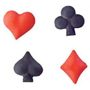 24 Playing Cards Suits Gambling Vegas Casino/Alice Wonderland Cupcake Toppers