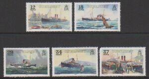 Guernesey-1989-GWR-Vapeur-Expedie-Ensemble-MNH-Sg-463-7