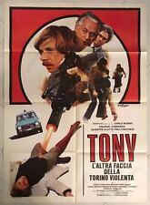 MANIFESTO 2F TONY L'ALTRA FACCIA DELLA TORINO VIOLENTA ALFA ROMEO AUTO OTTIMO