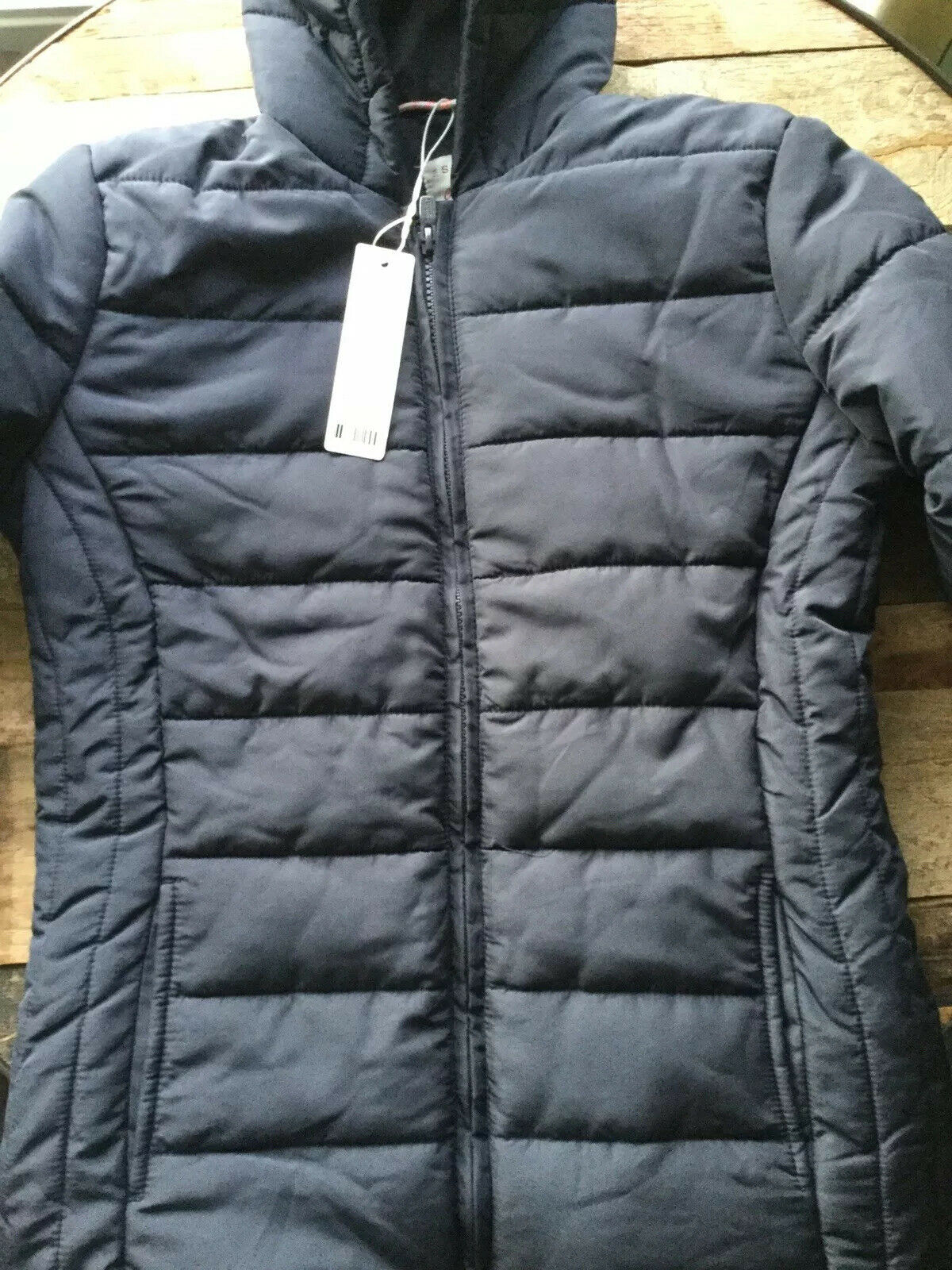 Esprit Girls Puffer Jacket 14 Yrs Thermal Black Shower Proof Coat Puffa RRP£47