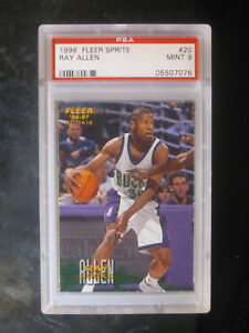 1996-Fleer-Sprite-20-Ray-Allen-Rookie-Milwaukee-Bucks-PSA-9-MINT
