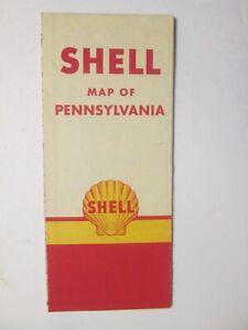 Shell Road Map of Pennsylvania 1955