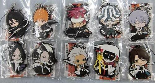 Bleach Mascot Swing Rubber Anime Strap SD Keychain Charm ~ Gin Ichimaru @27097