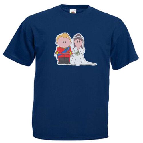 Prince William Kate Middleton Children/'s Kids Royal Wedding Childs T Shirt
