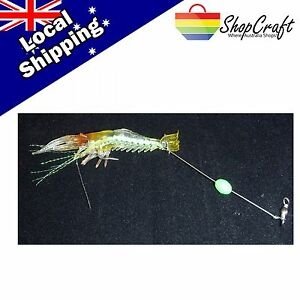 3x-Fishing-Tackle-Fake-Shrimp-Scampi-Luminous-Bead-Hook-Soft-Lures