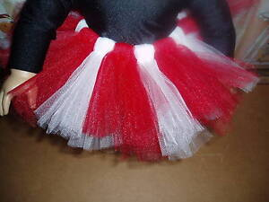 Red-White-Ballet-Tutu-Dance-18-034-Doll-Clothes-fits-American-Girl
